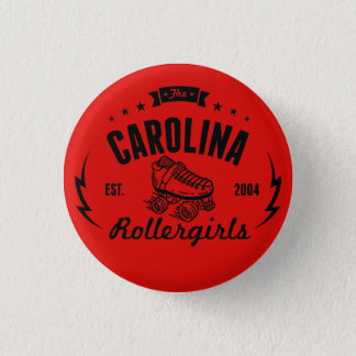 Badge Rond 2,50 Cm Bouton de la Caroline Rollergirls