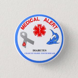 Badge Rond 2,50 Cm Bouton de la maladie de dent de Charcot Marie