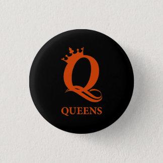Badge Rond 2,50 Cm Bouton de la Reine New York