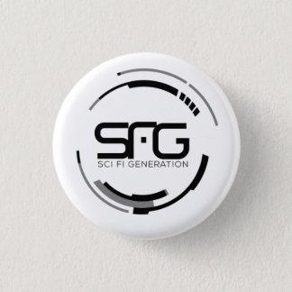 Badge Rond 2,50 Cm Bouton de logo de génération de Sci fi (petit)