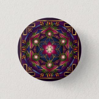 Badge Rond 2,50 Cm Bouton de mandala de croissance par Rachel C.