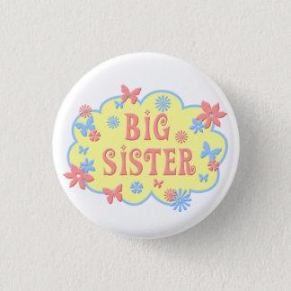 Badge Rond 2,50 Cm Bouton de papillon de fleur de grande soeur