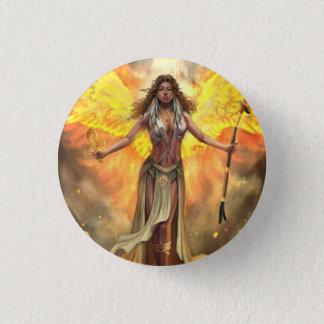 Badge Rond 2,50 Cm Bouton de Phoenix Ma'at du feu