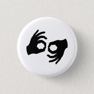 Badge Rond 2,50 Cm Bouton de pictogramme de langue des signes