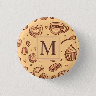 Badge Rond 2,50 Cm Bouton de Pin de monogramme de desserts de