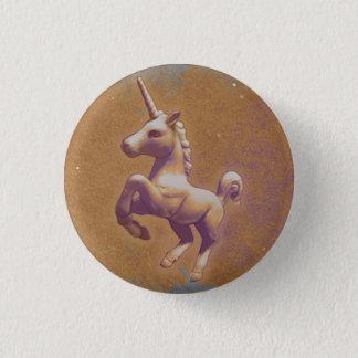 Badge Rond 2,50 Cm Bouton de Pin de revers de licorne (lavande en