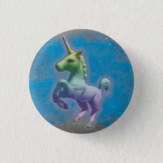 Badge Rond 2,50 Cm Bouton de Pin de revers de licorne (nébuleuse