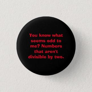 Badge Rond 2,50 Cm Bouton de professeur de maths de calembour de