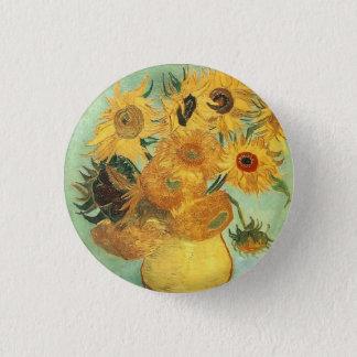 Badge Rond 2,50 Cm Bouton de tournesols