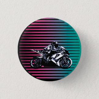 Badge Rond 2,50 Cm Bouton de Vaporwave Moto