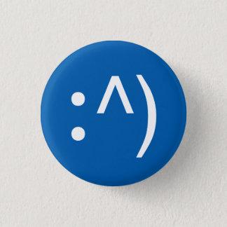 Badge Rond 2,50 Cm Bouton de visage de code de geek