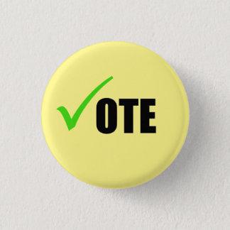 Badge Rond 2,50 Cm Bouton de vote