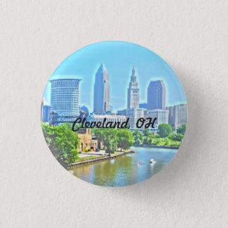 Badge Rond 2,50 Cm Bouton de vue de rivière de ville de Cleveland OH