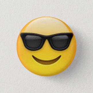 Badge Rond 2,50 Cm Bouton d'Emoji de lunettes de soleil