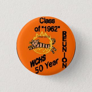 Badge Rond 2,50 Cm Bouton des 50 Réunions, 1962-2012