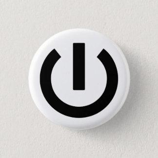 Badge Rond 2,50 Cm Bouton d'icône de puissance
