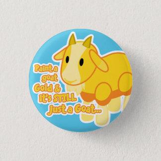 Badge Rond 2,50 Cm Bouton d'or de chèvre