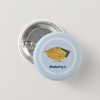 Badge Rond 2,50 Cm Bouton du jour   de la myrtille pi