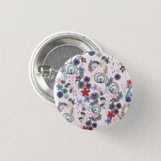 Badge Rond 2,50 Cm Bouton du motif de fleurs de ressort