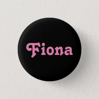 Badge Rond 2,50 Cm Bouton Fiona