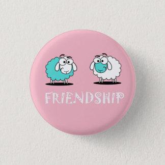 Badge Rond 2,50 Cm Bouton génial d'amitié de moutons