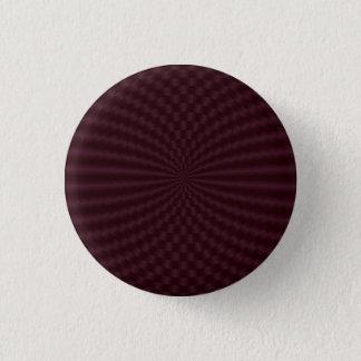 Badge Rond 2,50 Cm Bouton géométrique rouge-foncé de Pinback de