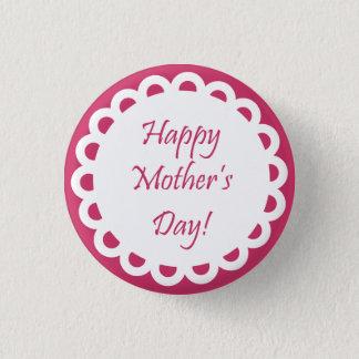 Badge Rond 2,50 Cm Bouton heureux du jour de mère