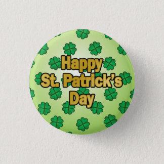 Badge Rond 2,50 Cm Bouton heureux du jour de Patrick de saint
