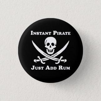 Badge Rond 2,50 Cm Bouton instantané classique de pirate