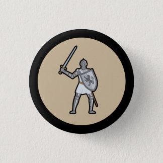 Badge Rond 2,50 Cm Bouton médiéval de chevalier