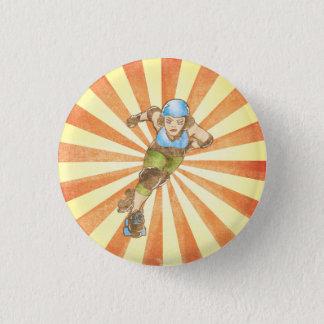 Badge Rond 2,50 Cm Bouton rond de fille de Derby de rouleau