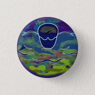Badge Rond 2,50 Cm Bouton rond de papillon