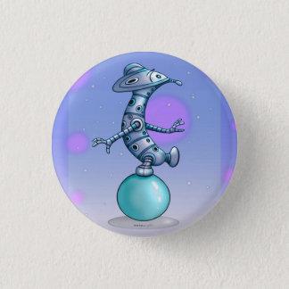 Badge Rond 2,50 Cm Bouton rond ÉTRANGER de ROBOT MIGNON de solénoïde