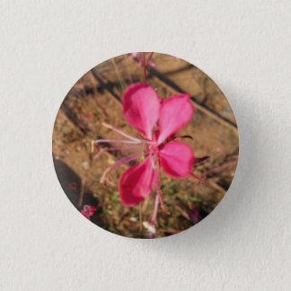 Badge Rond 2,50 Cm Bouton rose de fleur de ressort