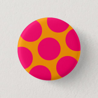 Badge Rond 2,50 Cm Bouton rose de point de polka