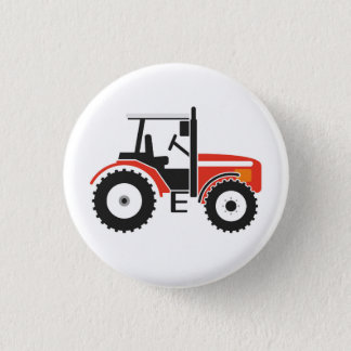 Badge Rond 2,50 Cm Bouton rouge d'insigne de tracteur