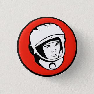 Badge Rond 2,50 Cm Bouton soviétique rouge de cosmonaute