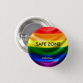 Badge Rond 2,50 Cm Bouton sûr de zone