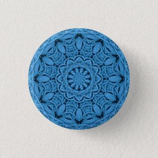 Badge Rond 2,50 Cm Boutons et goupilles vintages bleus décoratifs