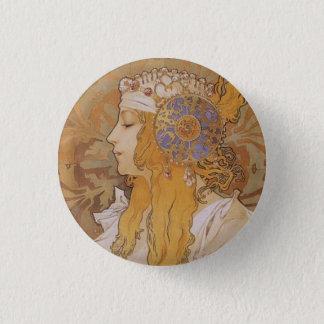Badge Rond 2,50 Cm Byzantine Head : Le Blonde
