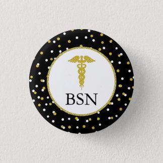 Badge Rond 2,50 Cm Cadeau d'obtention du diplôme d'étudiant de soins