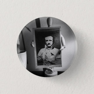 Badge Rond 2,50 Cm Carte de base-ball de bouton d'Edgar Allan Poe