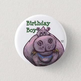 Badge Rond 2,50 Cm Centre de partie d'hippopotame