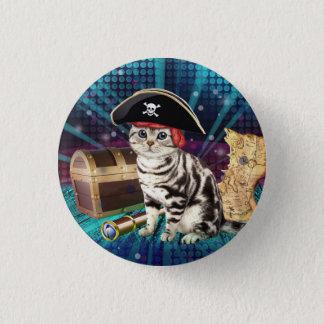 Badge Rond 2,50 Cm chat de pirate
