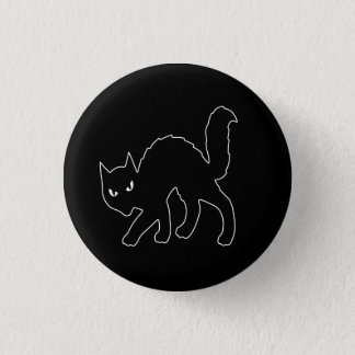 Badge Rond 2,50 Cm Chat effrayant gothique de Halloween Kitty