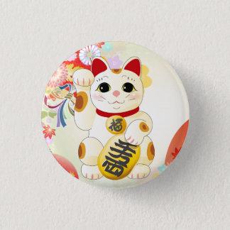 Badge Rond 2,50 Cm Chat japonais de fortune de Maneki Neko