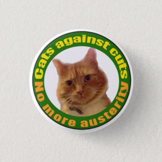 Badge Rond 2,50 Cm Chats contre des coupes