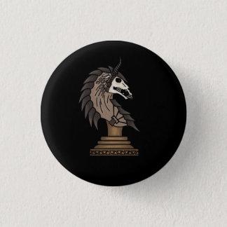 Badge Rond 2,50 Cm Chevalier noir