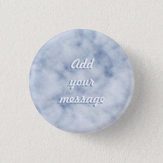 Badge Rond 2,50 Cm Ciel bleu en pastel nuageux 0155 de joli ressort