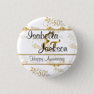 Badge Rond 2,50 Cm cinquantième Anniversaire de mariage d'or